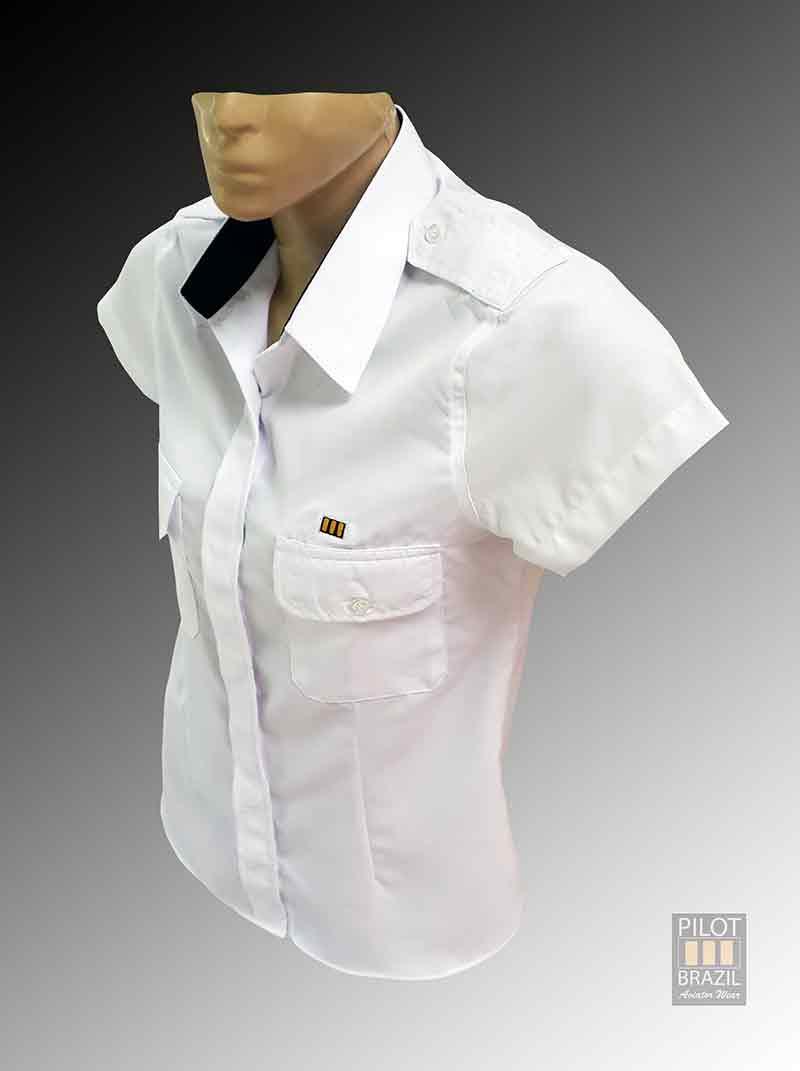 98a607eaf Camisa Uniforme Feminina Branca – Pilot Brazil